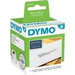 Dymo Adress-Etikett S0722370 Weiß Pa= 2X 130 Etiketten/Rolle 89X28Mm