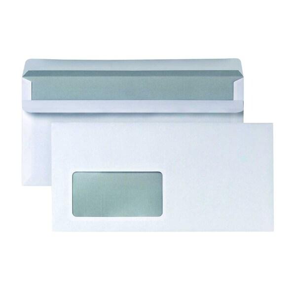 Briefumschlag DL selbstklebend weiß PA 1.000St. mit Fenster 75g