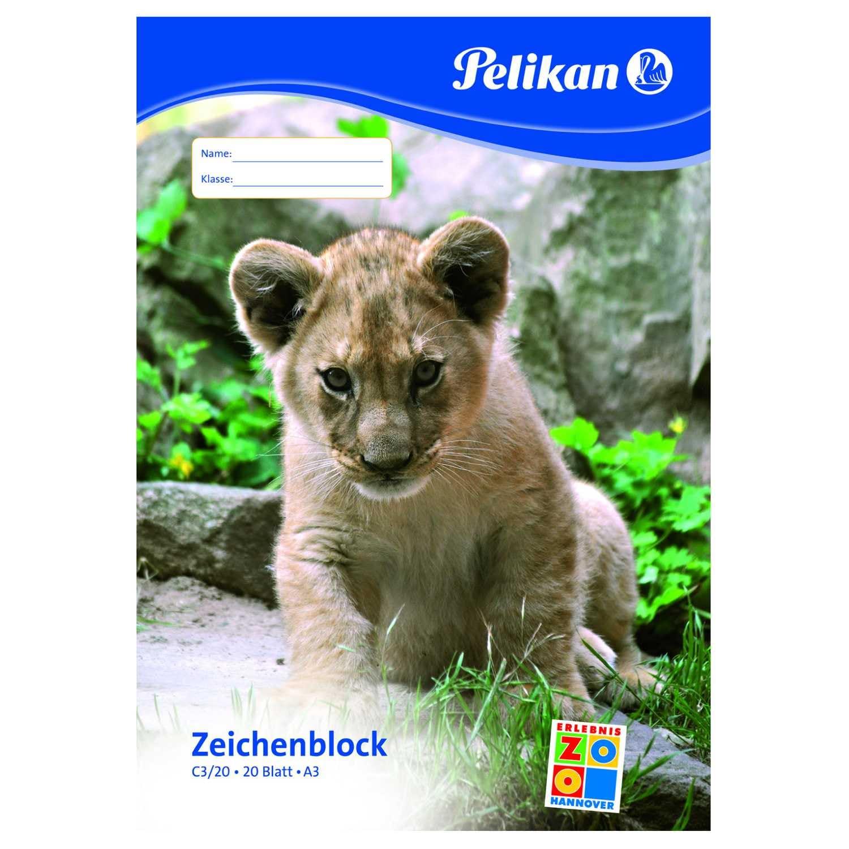 Pelikan Zeichenblock C3/20 A3 weiß Nr. 224840 20 Blatt chlorfrei100g/m²