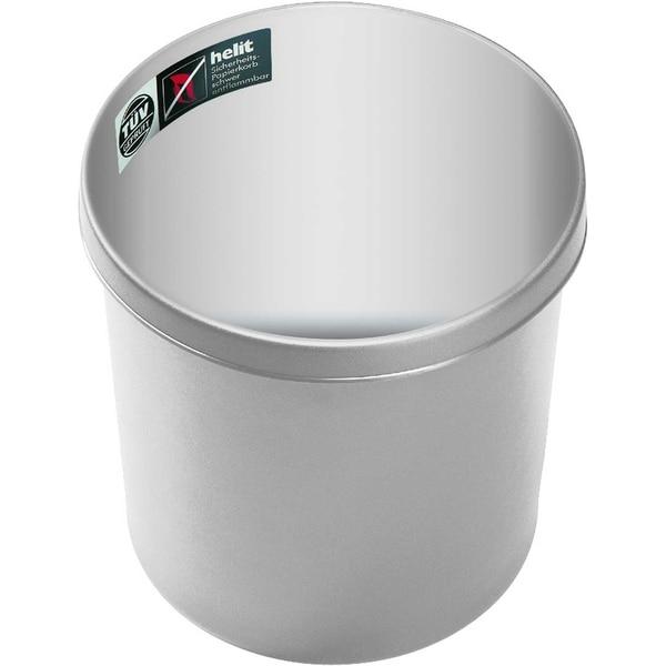 Helit Objektpapierkorb grau 12 Liter Nr. H6106380schwer entflammbarHöhe27cm