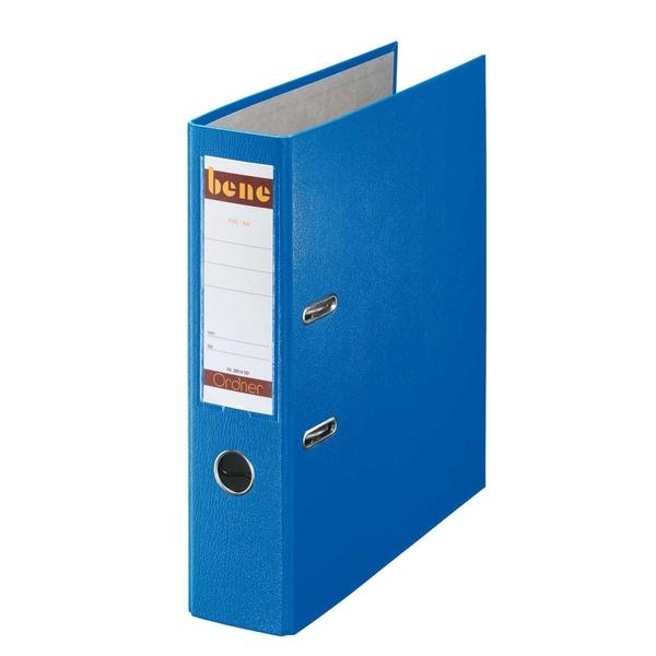 Bene Ordner 80 mm A4 blau PP 291400 BL mit WechselfensterKunststoff