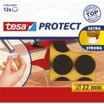 tesa Filzgleiter Protect Ø 2.2cm braun Nr. 57893-00001. PA= 12Stk.