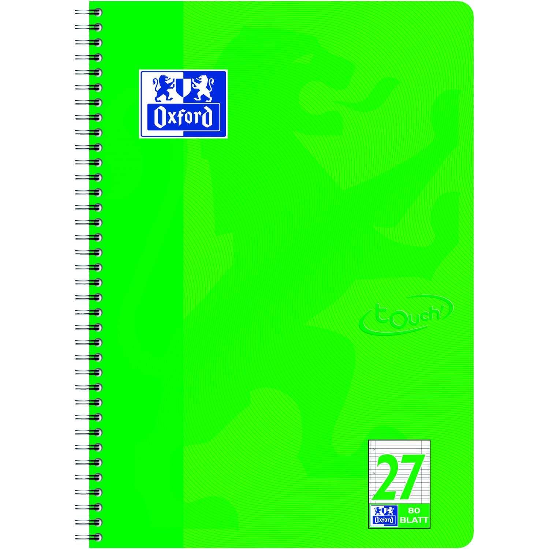 Oxford Collegeblock Touch A4+ liniert Nr. 400086494 80 Blatt 90gm² grasgrün