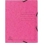 ExacomPTA Sammelmappe A4 rosa Nr. 55407E. Colorspankarton. 3 Klappen. Jurismappe