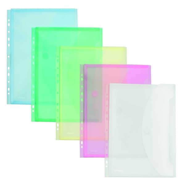 FolderSys Sichttasche A4 PP 5 Farben Nr. 40109-94 PA 10St rechts offen