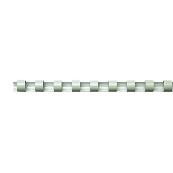 Fellowes Binderücken comb 12mm weiß Nr. 5346206 A4 PA 100Stk 21 Ringe