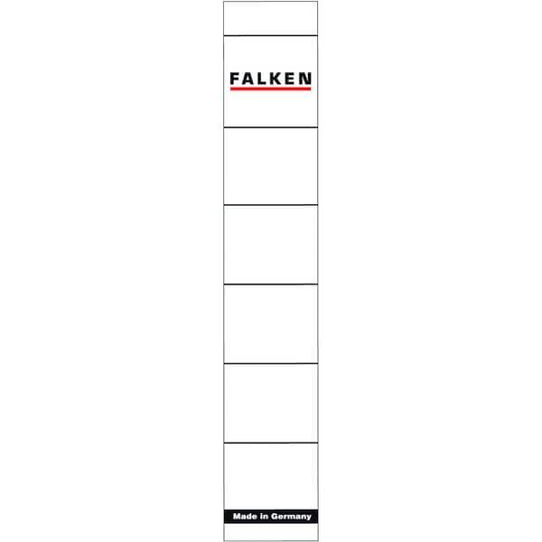 Falken Rückenschild schmal/kurz weiß 80039639 PA 10St handbeschreibbar
