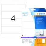 Herma Rückenschild Nr. 5123 weiß PA 100Stk breit/kurz sk bedruckbar