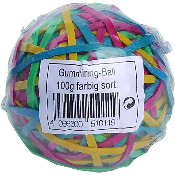 Wihedü Gummiringe Ø 45cm & 5cm Nr. 510011 PA= 100g farbig sortiert