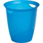 Durable Papierkorb Trend transparent blau 16 Liter Nr. 17017105-40. Ø 31.5. Höhe 33cm