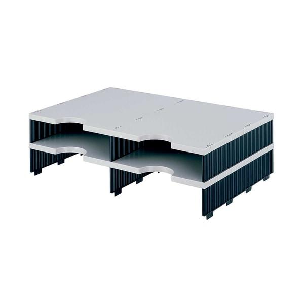 Styro Styrodoc duo Aufbaueinheit mit 4 Fächern grau-schwarz