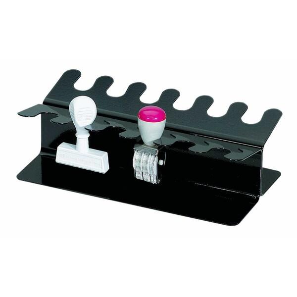 Maul Stempelträger Metall Schwarz Eckig Nr. 5221290 Für 12 Stempel Gerade Form