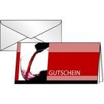 Sigel Faltkarte Gutschein Vino Rosso DL Nr. DS404 PA 10Stk + Umschläge