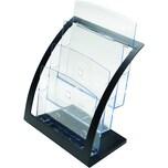 deflect-o Tischprospekthalter A4 glaskl. Nr. 693704 3 Fächer Polysterol