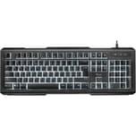 Trust Tastatur Lito 22043 Multimedia Led