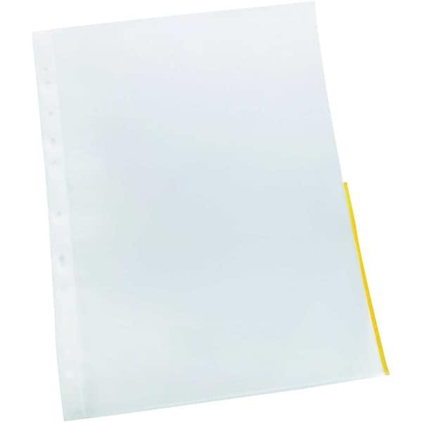 Prospekthülle rechts offen A4 PP Nr. 11150687Farbrand gelb PA 10 Stück