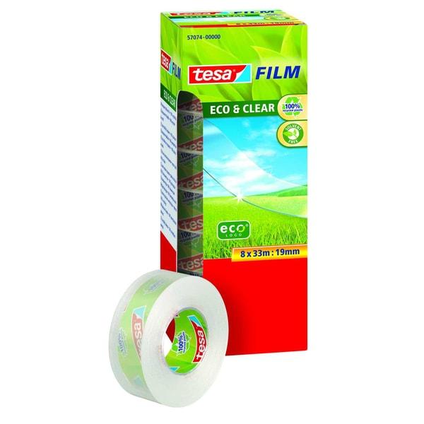 tesa Klebefilm Eco & Clear 19mmx30m Nr. 57074 transparent PA= 8 Rlollen