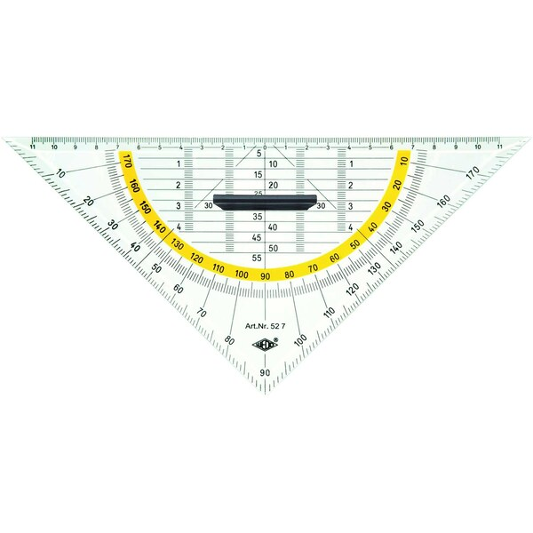 Wedo Geometrie-Dreieck 525 Standard mit Griff 25cm Länge der Hypotenuse