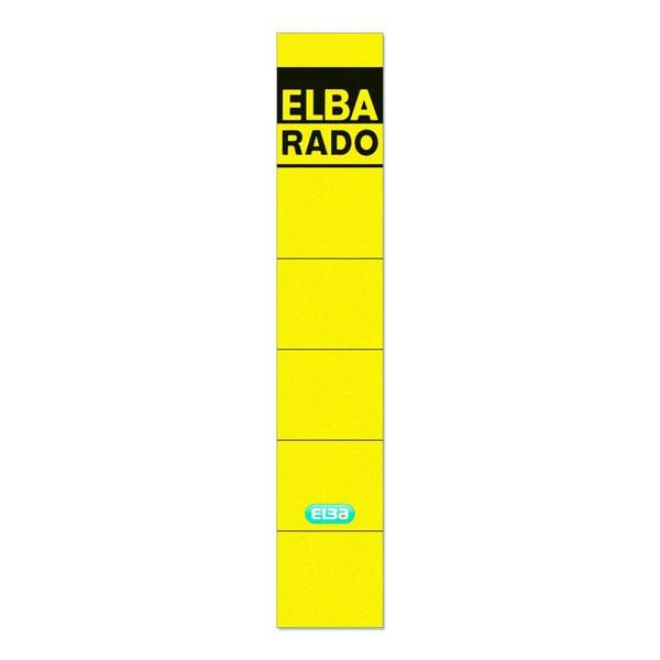 Elba Rückenschild schmal/kurz gelb 100420942 sk PA10Sthandbeschreibbar