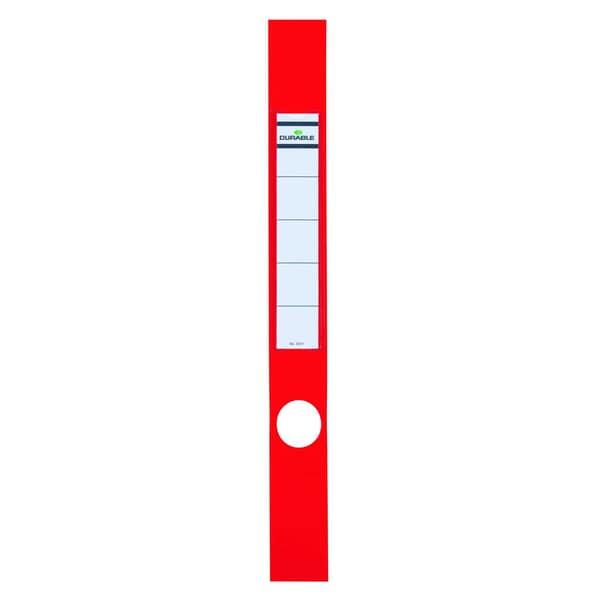 Durable Ordofix Rückenschild rot Nr. 8091-03 schmal/lang PA 10 Stück