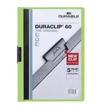 Durable Klemmmappe DURACLIP A4 grün Nr. 2209-05 Füllhöhe 60Bl mit Deckblatt