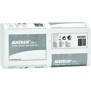 Katrin Papierhandtuch 345201 2lagig 235x25cm ws 3.024 Bl./Pack.