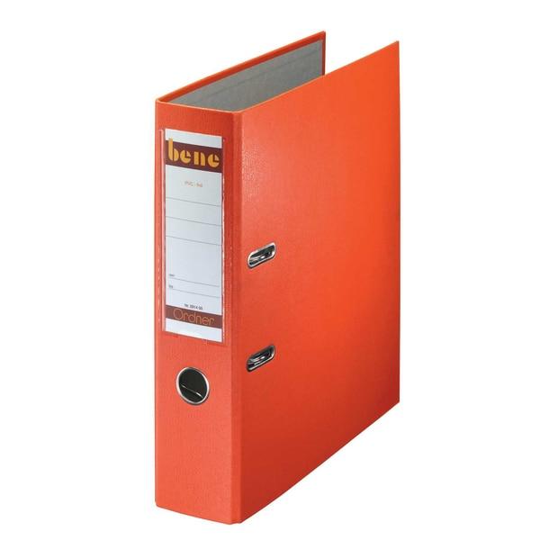 Bene Ordner 80 mm A4 orange PP 291400 OR mit WechselfensterKunststoff