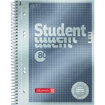 Brunnen Collegeblock Student A5 kariert Nr. 1067152 80 Blatt 90g anthrazit