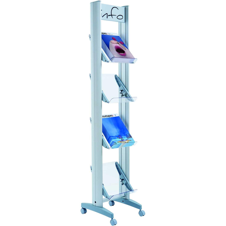 Paperflow Prospektständer Plexiglas Nr. 4.24x32TT.35 4 Fächer