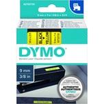 Dymo Schriftbandkassette S0720730 9mmx7m schwarz auf gelb40918 D1