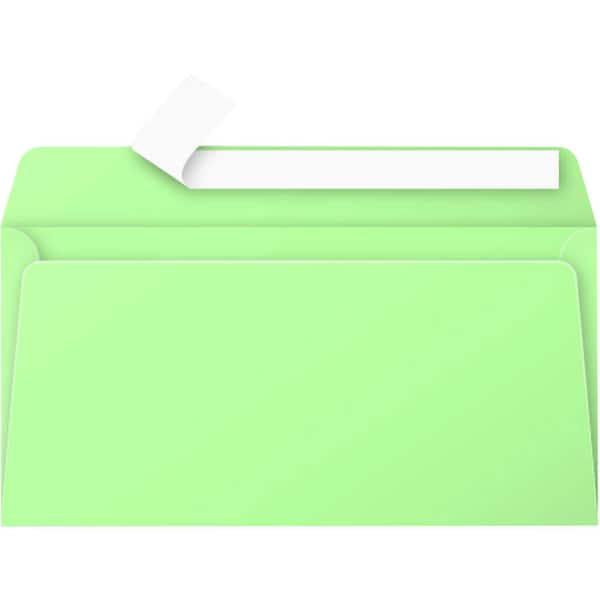 Clairefontaine Briefumschlag DL haftkle- bend PA 20 St grün ohne Fenster 120g