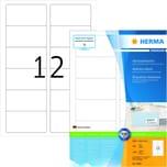 Herma Premium-Etikett Nr. 4666 weiß PA= 1.200Stk.. 88.9x46.6mm bedruckbar