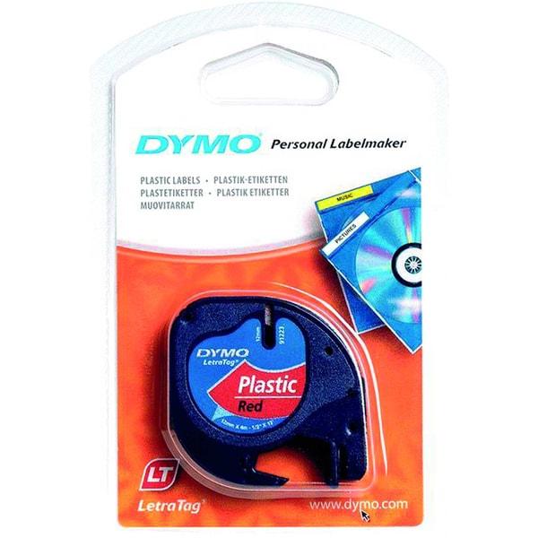 Dymo Etikettenkassetten-System S0721680 12mmx4m rot Plastikband