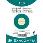 ExacomPTA Karteikarte A6 liniert grün Nr. 10849se. PA= 100Stk