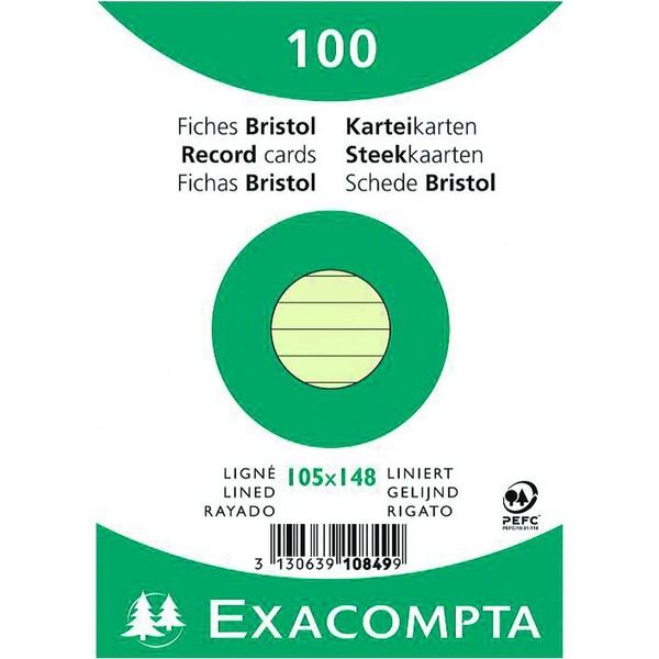 ExacomPTA Karteikarte A6 liniert grün Nr. 10849se PA 100 Stück