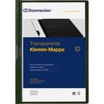 Soennecken Klemmmappe PVC A4 grün 30 Bl. Nr. 3318 transparenter Vorderdeckel