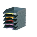 Durable Briefablage VARIColor Tray Set DUO Nr. 7705-57 anthrazit PA 5Stk