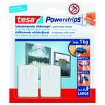 tesa Haken Powerstrips Large weiß 2Haken Nr. 58031-00020. 4 Strips. 30x120mm. bis 1kg