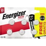 Energizer Knopfzelle 2032 Lithium Nr. E302275000. PA= 4+2 Stk