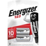 Energizer Lithium Foto Spezialzelle 123 Nr. 628289. 3V. 2Stk.