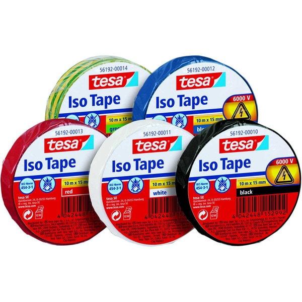 tesa Isolierband Iso Tape PVC Nr. 56192-00011 15mmx10m weiß