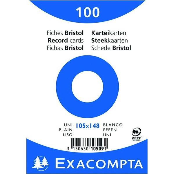 ExacomPTA Karteikarte A6 blanko weiß Nr. 10509E PA 100 Stück