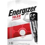 Energizer Knopfzelle CR 1632 Lithium Nr. E300844102. 3V. 130mAh