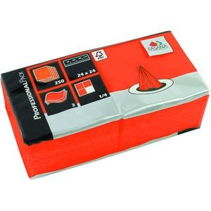 Fasana Serviette 3-lagig 24x24cm Nr. 217673 orange PA= 250Stk