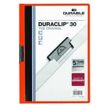 Durable Klemmmappe DURACLIP 30 A4 oran. Nr. 2200-09 Füllhöhe 30Bl mit Deckblatt