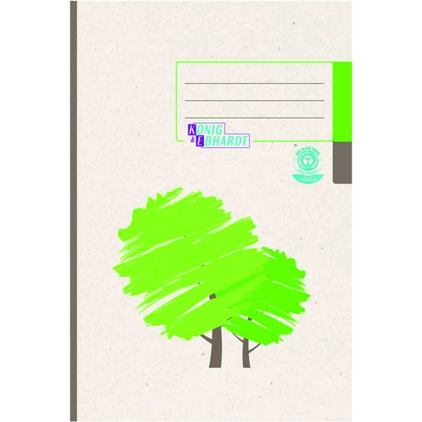 König & Ebhardt Kladde A5 kariert 96Bl Nr. 861529201 Recycling-grüner Baum