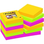 Post-it Haftnotiz Super Sticky 48x48mm Nr. 62212SR sortiert PA12 Block