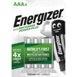 Energizer Akku Recharge Powerplus Aaa Nr. E300626600 12Vhr3 Micro 4 Stück