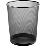 Helit Mesh Papierkorb schwarz 15 Liter Nr. H2518595 Lochdekor Höhe 28cm