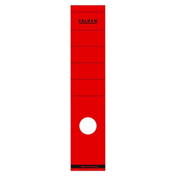 Falken Rückenschild breit/lang rot Nr. 11286887 PA 10 Stückselbstklebend